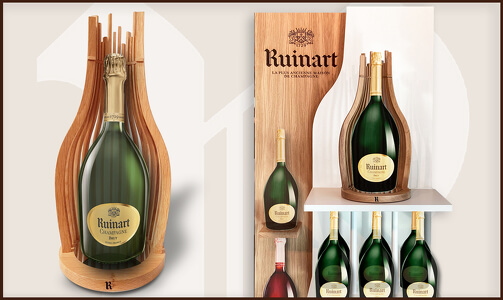 THE RUINART CURVE DISPLAYS